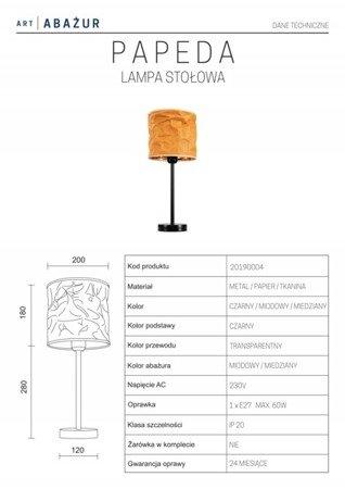 LAMPA STOŁOWA KOLOR BEŻOWY/ RÓŻOWE ZŁOTO