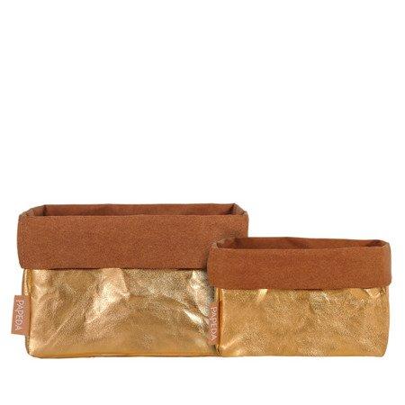 Organizer kolor złoty rozmiar L wymiary 15 cm x 21 cm x 13 cm