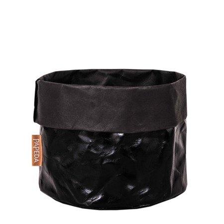 Osłonka na doniczkę kolor czarny 12 cm / 14 cm