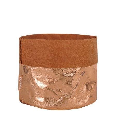Osłonka na doniczkę kolor miedziany 19 cm 17 cm
