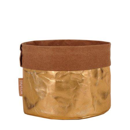 Osłonka na doniczkę kolor złoty M (OP 1504) średnica14 x 12/16* cm h